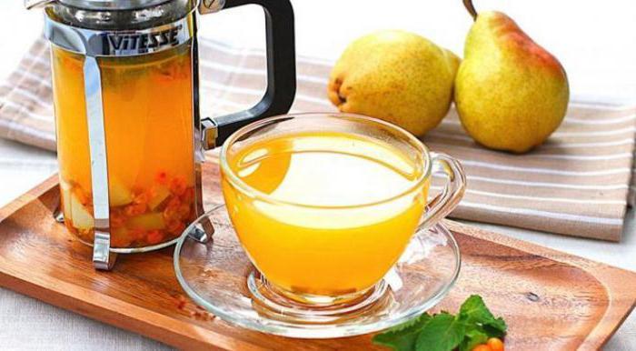 ricetta del tè dell'olivello spinoso con foto
