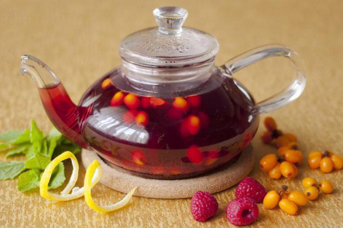ricetta del ristorante del tè dell'olivello spinoso