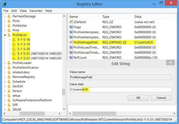 come cambiare il nome della cartella utente in Windows 7