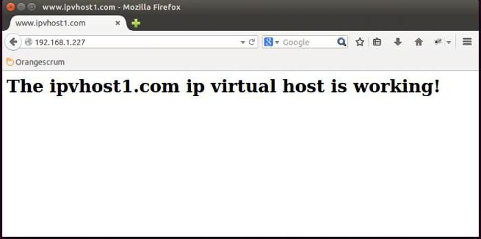 creare un hosting virtuale