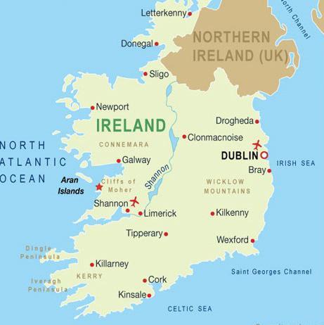 památky irska
