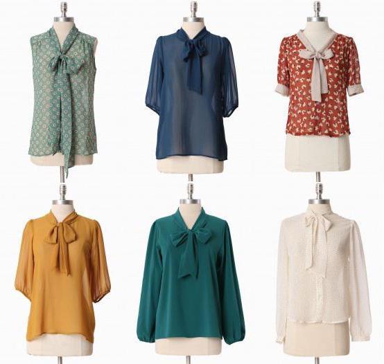 модели шифонских блуза са шаблонима