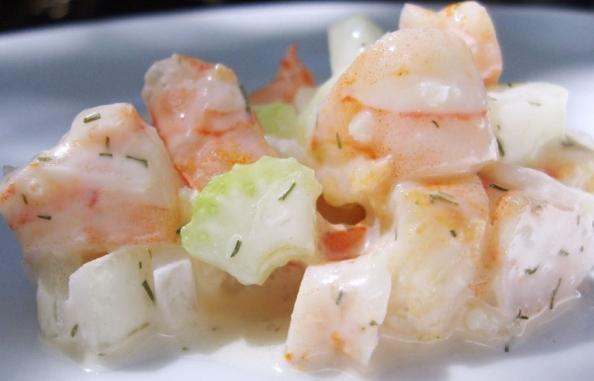 лесна рецепта за салата от скариди