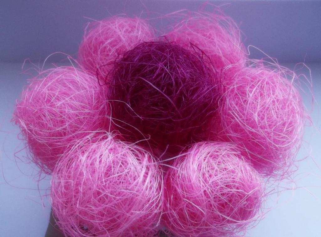 fiore di fibra di sisal