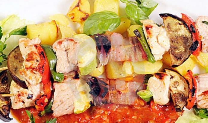 Kebab di tacchino al forno