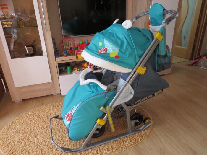 dječja kolica za sanjkanje za djecu 7 2 smaragd