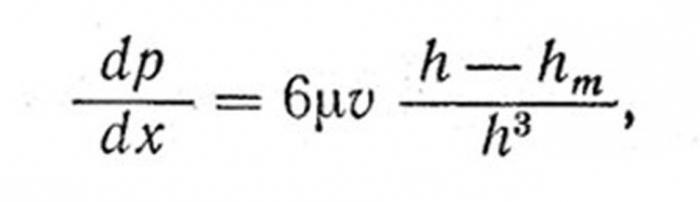 Formula di Reynolds per cuscinetti scorrevoli