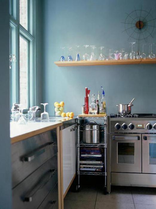 tende per una piccola cucina