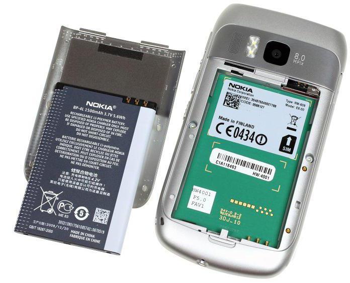 specifiche di Nokia e6