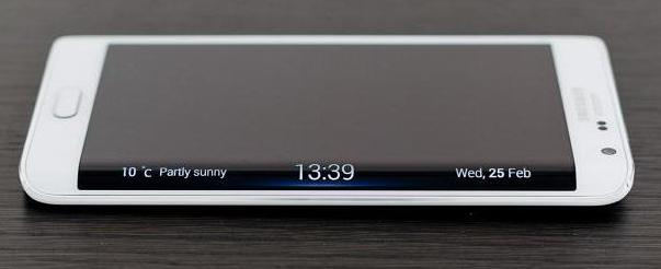Samsung Galaxy Забележка ръб черен