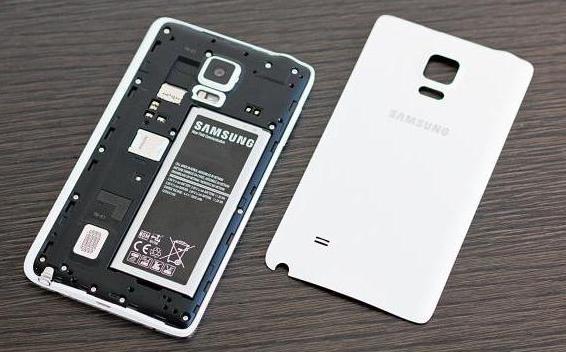 Samsung Galaxy Забележка край телефон