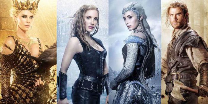 филмски глумци снежно бели и ловац