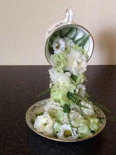 plutajuća šalica s cvijećem napravite sami korak po korak