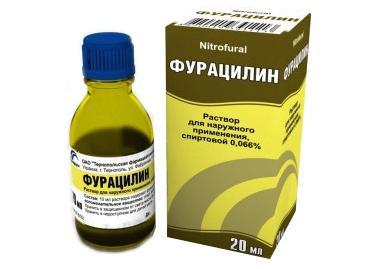 измиване на носа с фурацилин