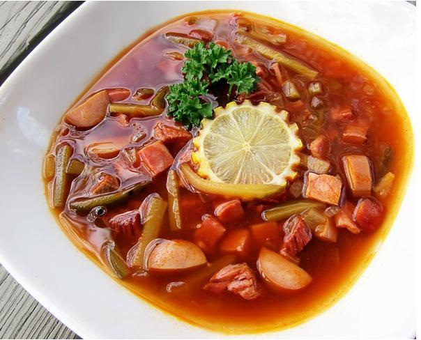 Hodgepodge di zuppa.  ricetta