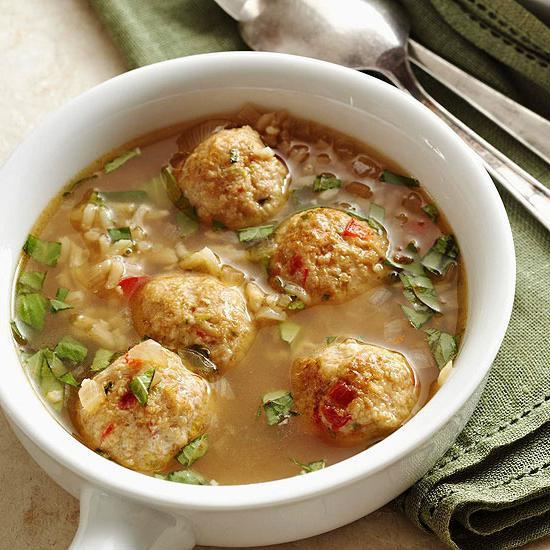 Супа са ћуфте и пиринач