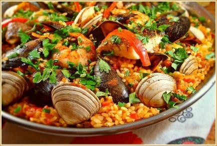paella recept na mořské plody