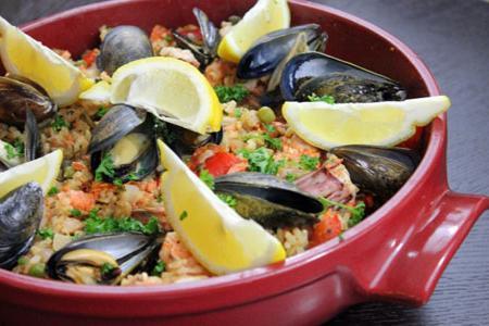 pilaf s receptem na mořské plody