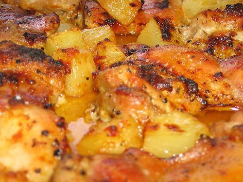 Ananasowa pierś z kurczaka