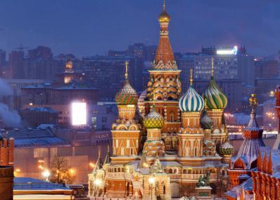 Katedrala sv. Bazilija v moskovskem delovnem času
