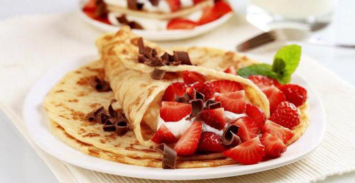 palačinky s receptem na jahody