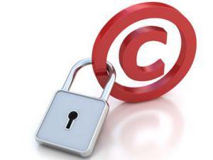 Znaki predmetov avtorskih pravic