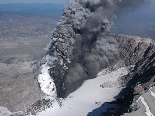 stvaranje sumpornog dioksida u vulkanu