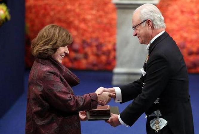Nobelovu cenu Svetlana Aleksijeviče