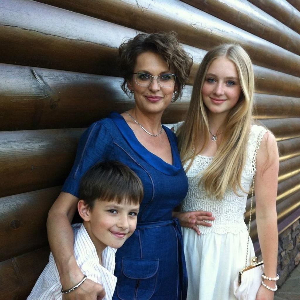 Svetlana Bodrova z dziećmi