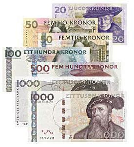 valuta della Svezia