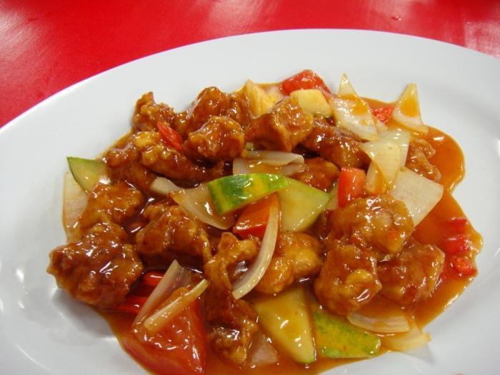 Chińska słodka kwaśna wieprzowina