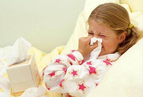 naso che cola nei bambini