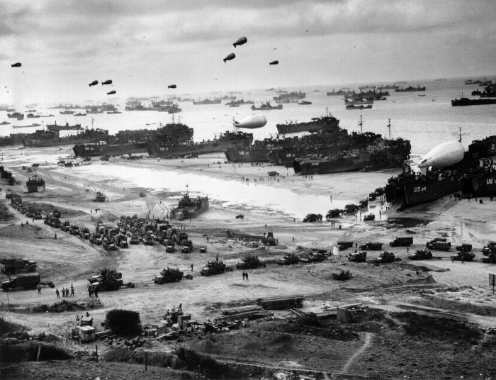 Lo sbarco di truppe in Normandia