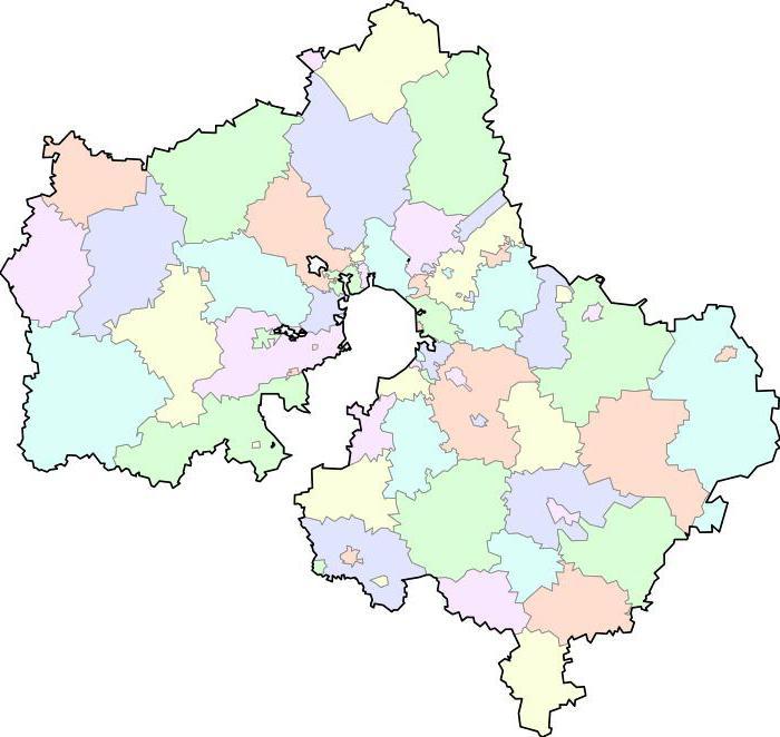area della regione di Mosca in kmq