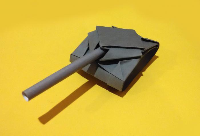 papierowy zbiornik origami