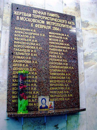 ostatnie eksplozje w metrze w Moskwie