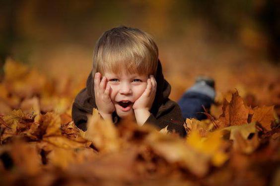 podzimní fotografický snímek s dětskými nápady