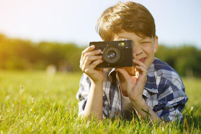 Kompaktowy aparat fotograficzny dla dzieci