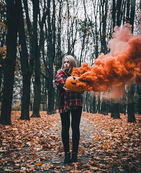 servizio fotografico autunnale sulle idee della natura per una ragazza