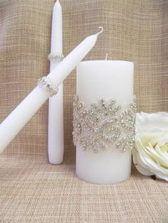 decorando candele di nozze con le tue mani