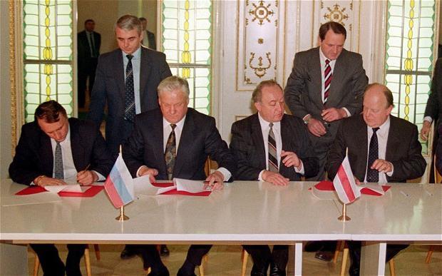 potpisivanje Sporazuma Bialowieza