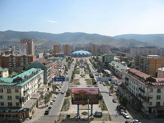 La capitale della Mongolia di Ulan Bator