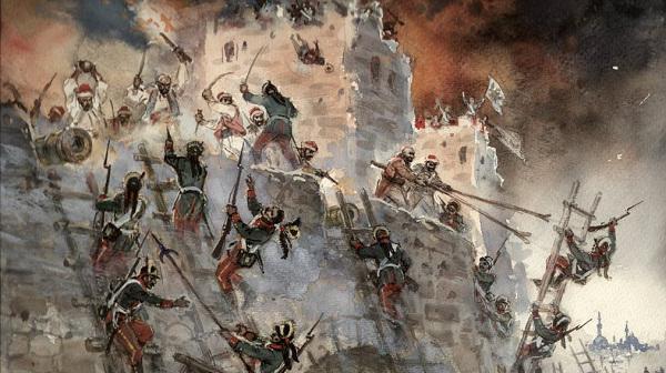 La cattura della fortezza turca di Suvorov Ismaele