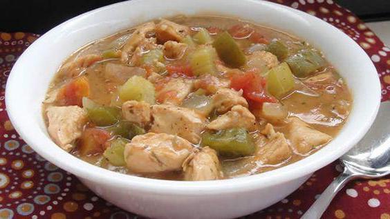 recept na gumbo polévku s fotkou