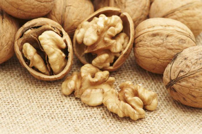 složení ořechů