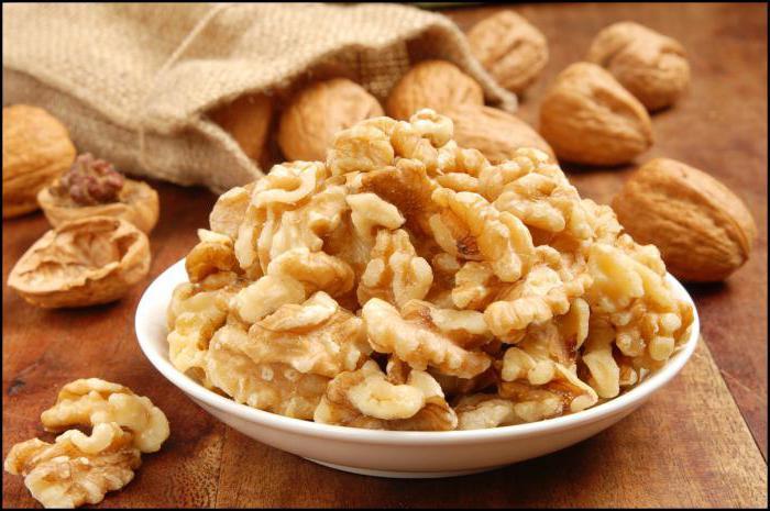 vlašské ořechy potraviny hodnota 100 gr