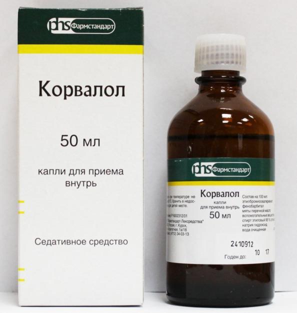 Indikacije za uporabo zdravila Corvalol