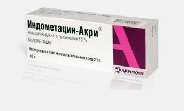 Indometacin mazilo
