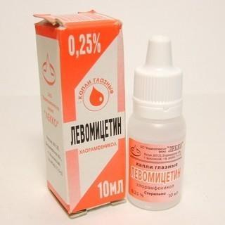krople chloramfenikolu