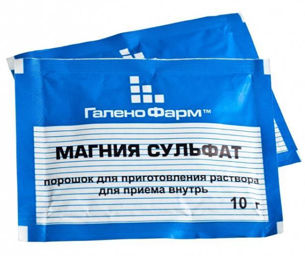 applicazione di solfato di magnesio